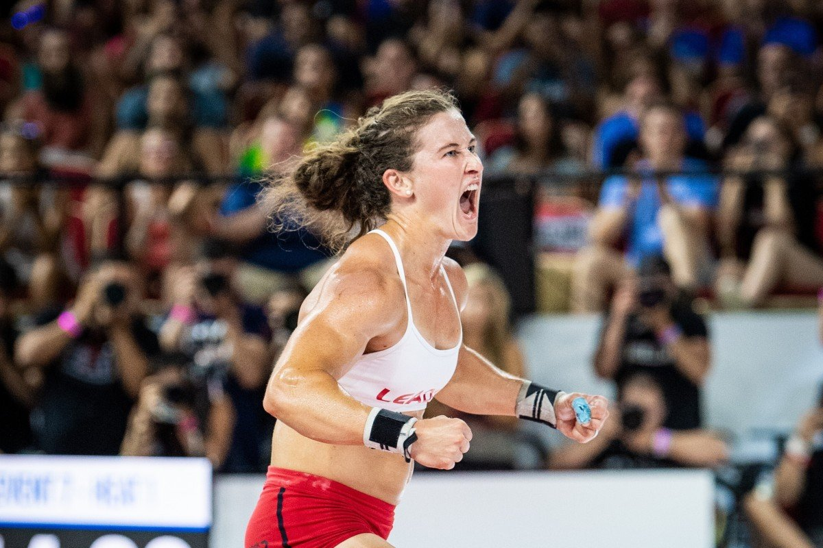 Tia-Clair Toomey celebrates at the 2019 Games. Will she secure a fourth straight title? Photo: Michael Valentin