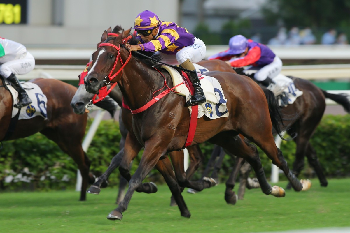 Lucky Express coasts to victory at Sha Tin on Sunday. Photos: Kenneth Chan