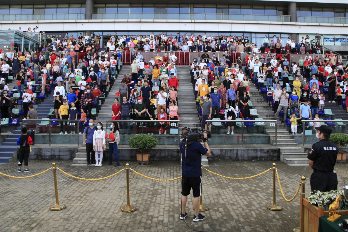 Fans attend the Wuhan Jockey Club's National Day meeting. Photo: Wuhan Jockey Club