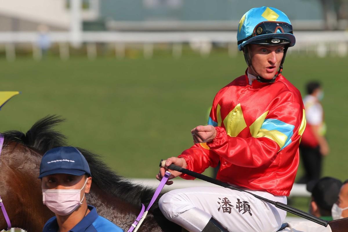 Zac Purton after a winner at Sha Tin. Photos: Kenneth Chan
