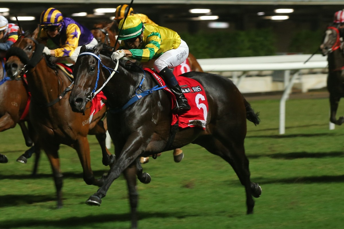 Sky Darci storms to victory at Happy Valley. Photos: Kenneth Chan