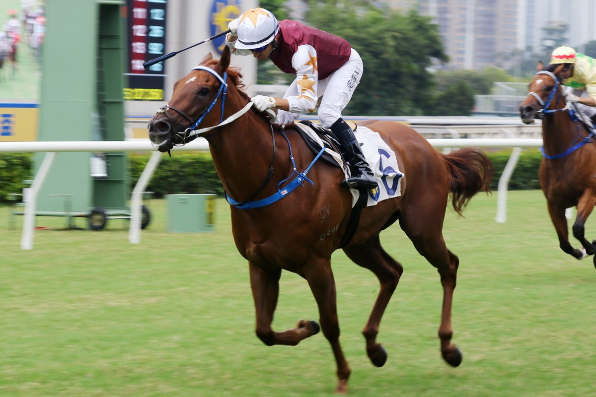 Joao Moreira salutes after winning aboard Forte at Sha Tin on Saturday. Photos: Kenneth Chan