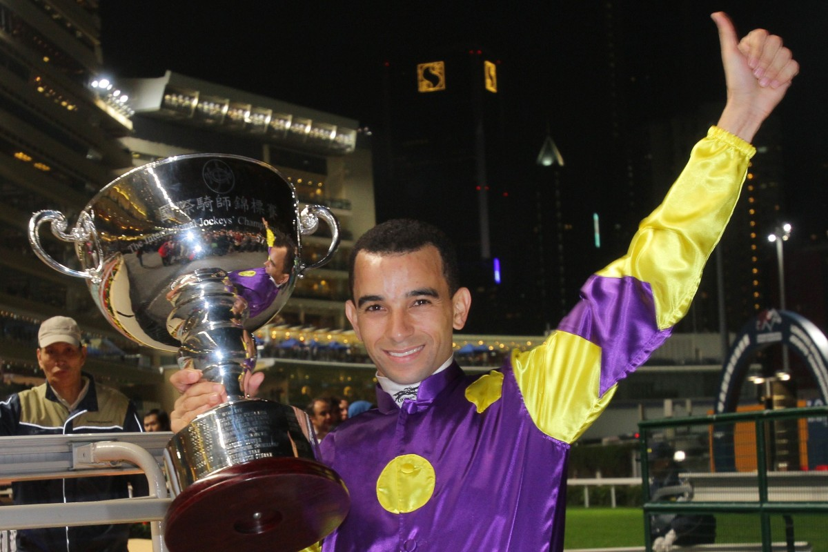Joao Moreira wins the IJC in 2012. Photo: Kenneth Chan