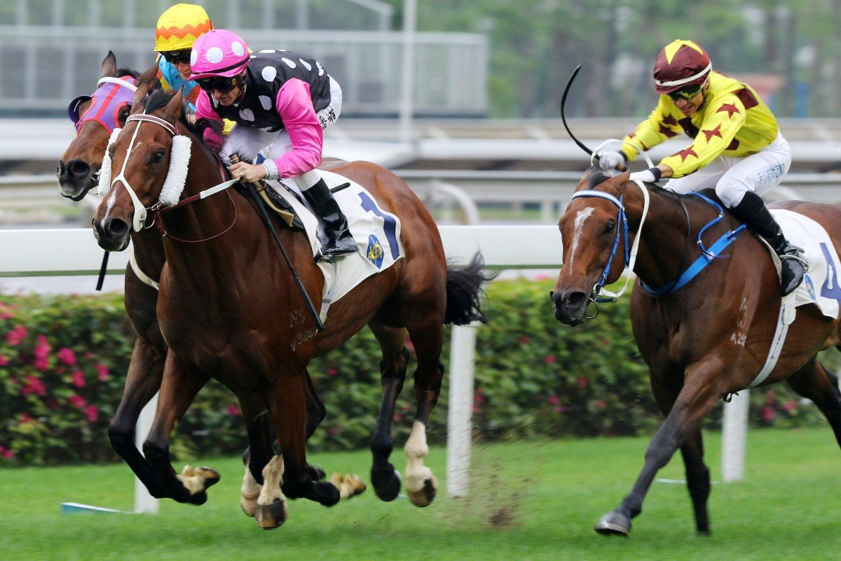 Beauty Generation (left) attempts to fend off Southern Legend (right). Photos: Kenneth Chan