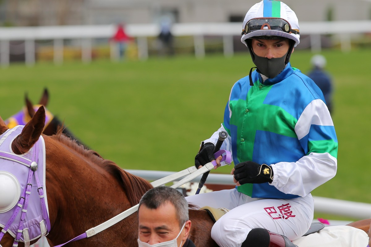 Alexis Badel returns after riding a winner at Sha Tin on Sunday. Photos: Kenneth Chan