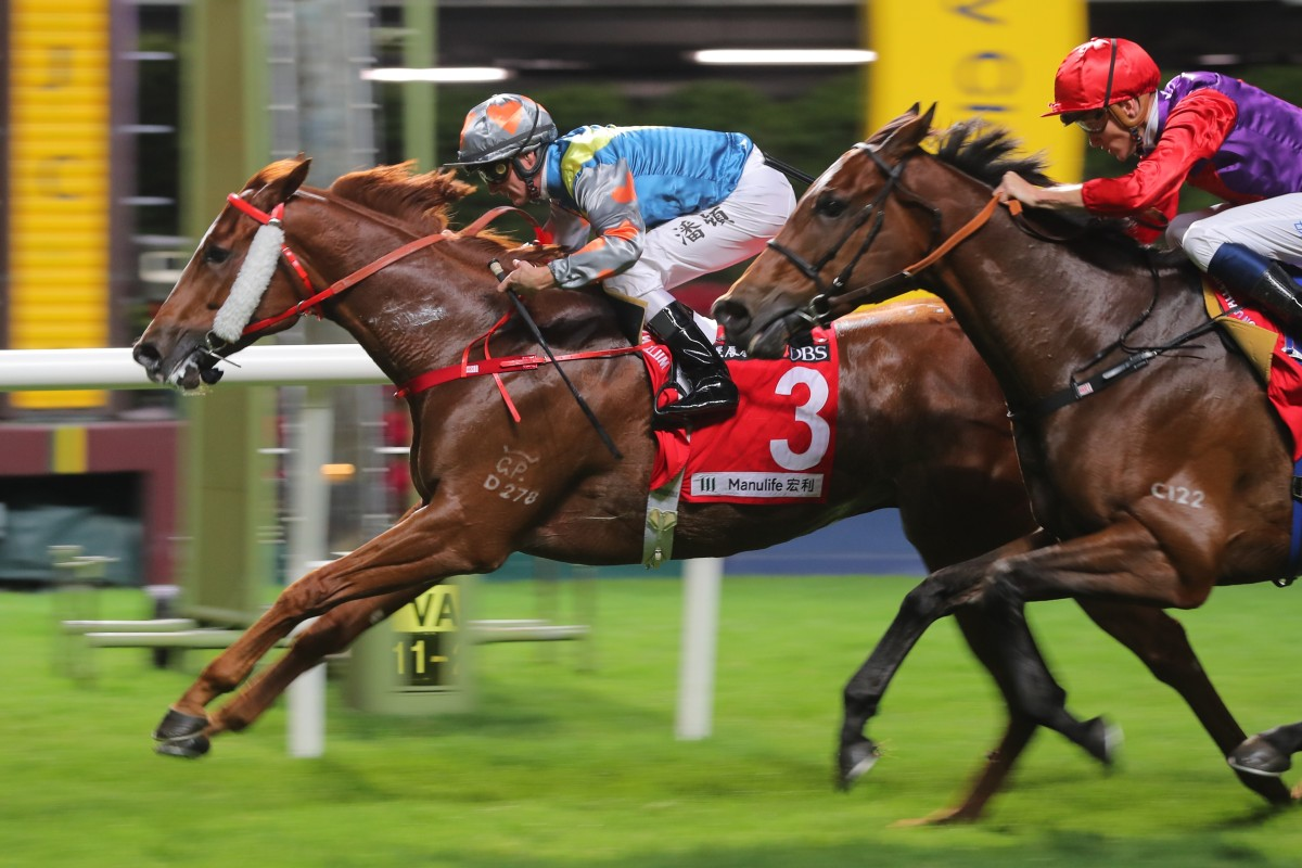 Grateful Heart hits the line to salute at Happy Valley in November. Photos: Kenneth Chan