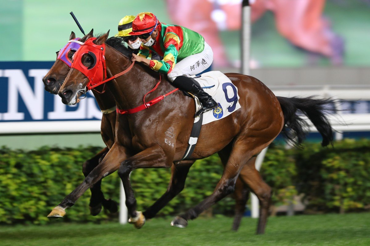 Vincent Ho guides Tourbillon Diamond to victory at Sha Tin in December. Photos: Kenneth Chan