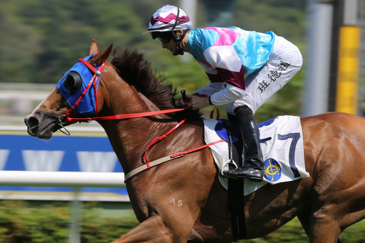 Harry Bentley guides Red Elysees to victory at Sha Tin on Saturday. Photos: Kenneth Chan