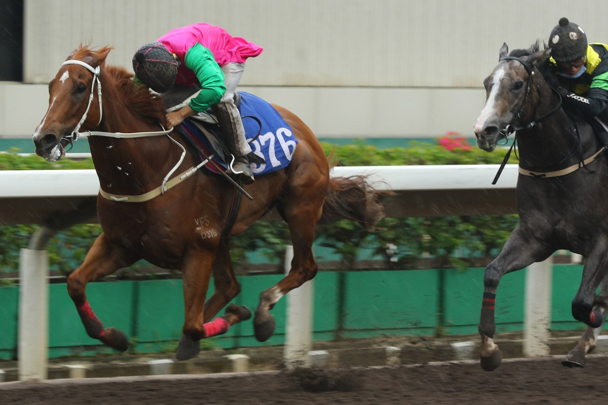 Matthew Poon pilots Joyful Fortune to victory in a recent barrier trial. Photos: Kenneth Chan