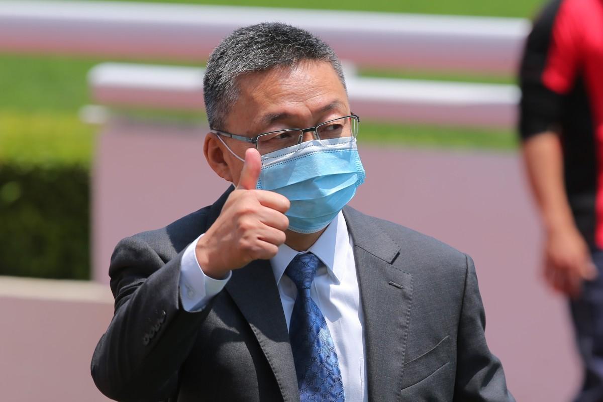 Francis Lui celebrates one of his 56 winners so far this season. Photos: Kenneth Chan
