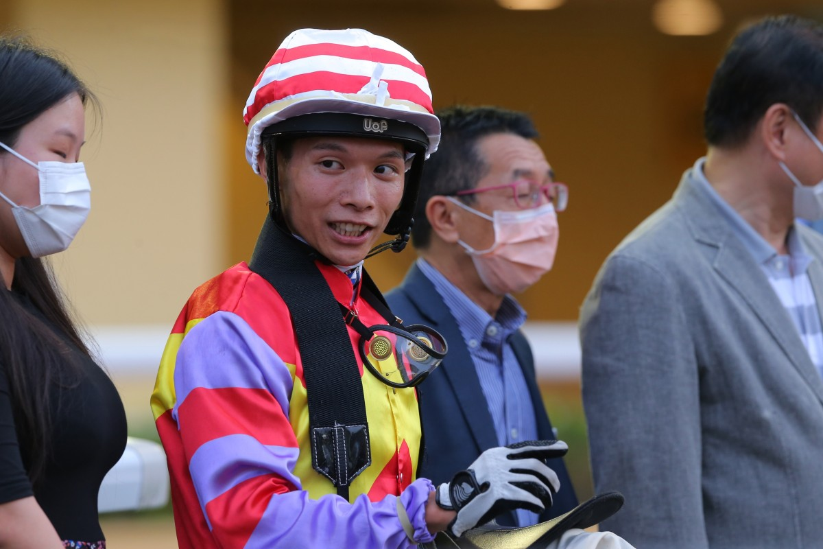 Victor Wong enjoys his most recent winner. Photos: Kenneth Chan