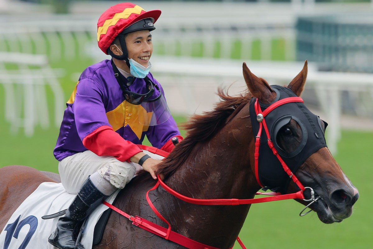 Matthew Poon is all smiles after a winner. Photos: Kenneth Chan