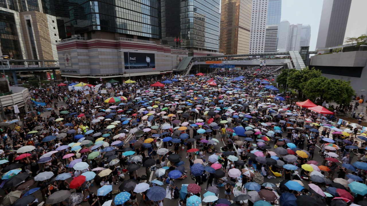 Activists sentenced to prison over Hong Kong's massive protest movement