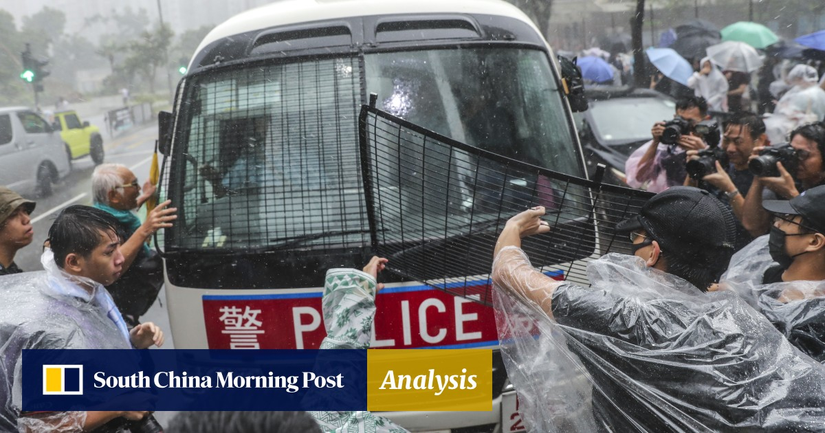 First wave of alleged Hong Kong rioters – including teacher