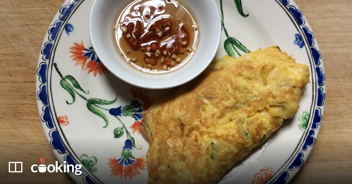 Thai omelette recipe - super quick and easy
