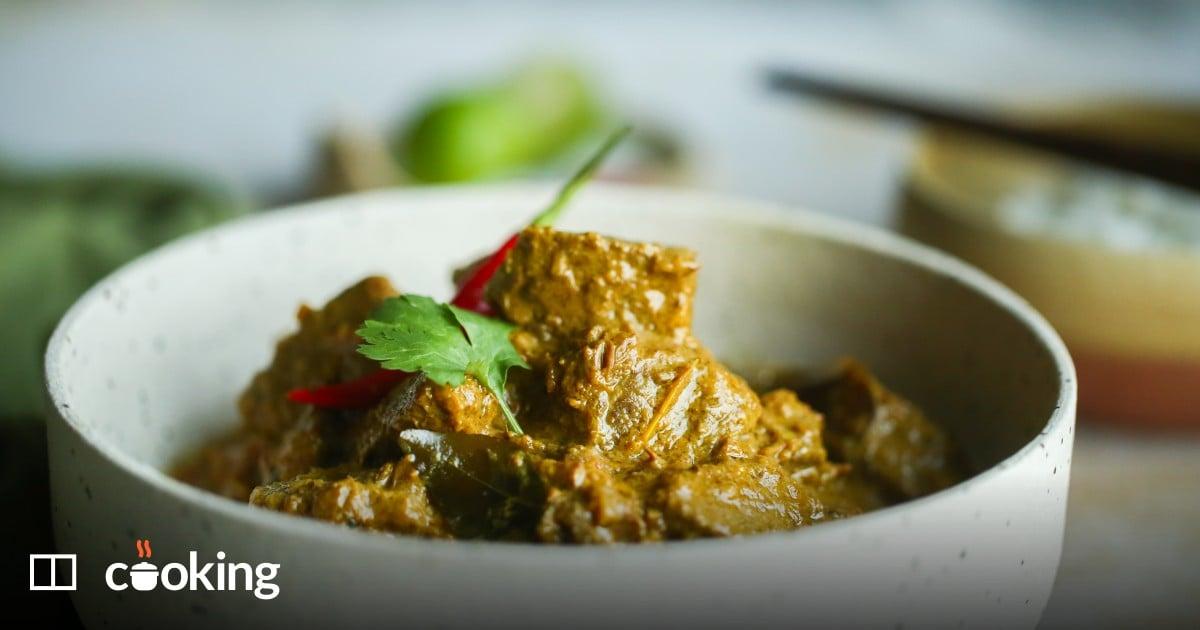 Beef rendang, an Indonesian staple