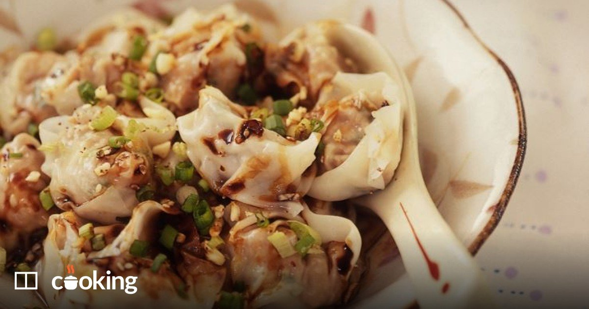 Easy Chinese spicy dumplings recipe with pork and shrimp