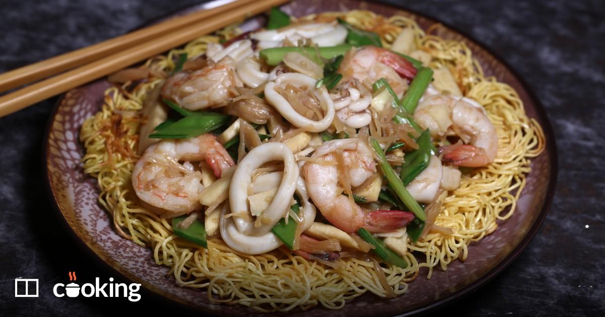 Shrimp chow mein recipe - Hong Kong style