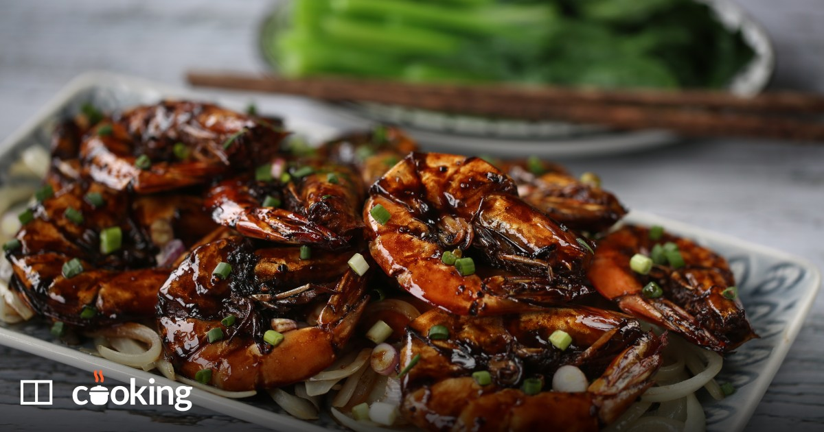 Chinese soy sauce prawns recipe - quick and easy