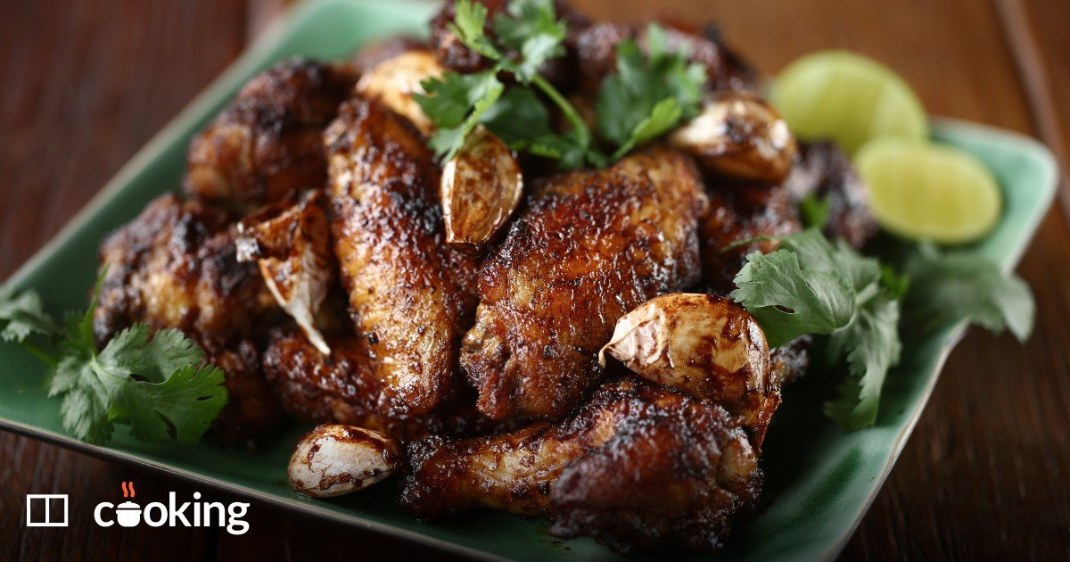 Chicken wings with peanut butter and Thai green curry recipe