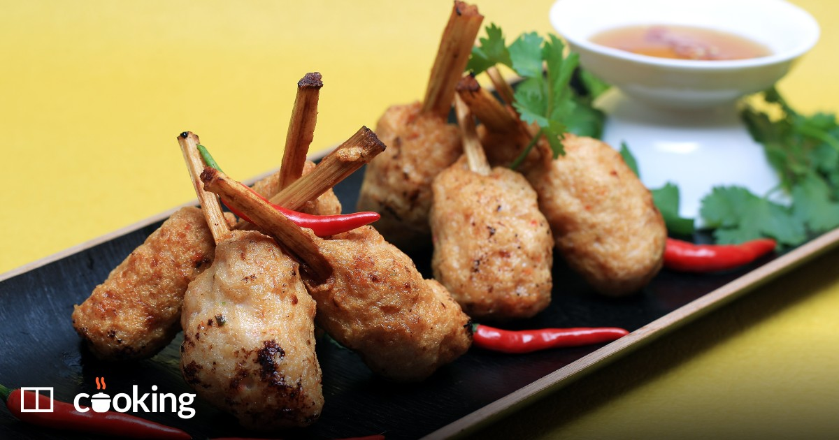 Sugar cane shrimp, a Vietnamese recipe