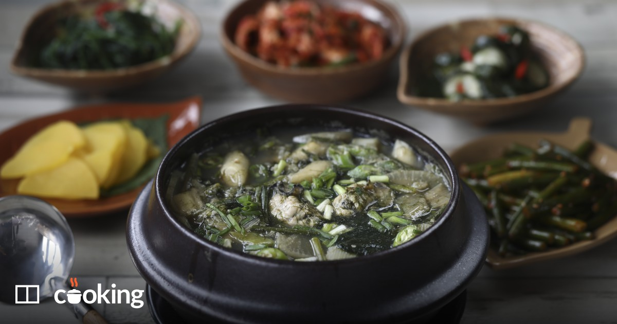 Oyster, seaweed and rice (gul guk bap) recipe - easy