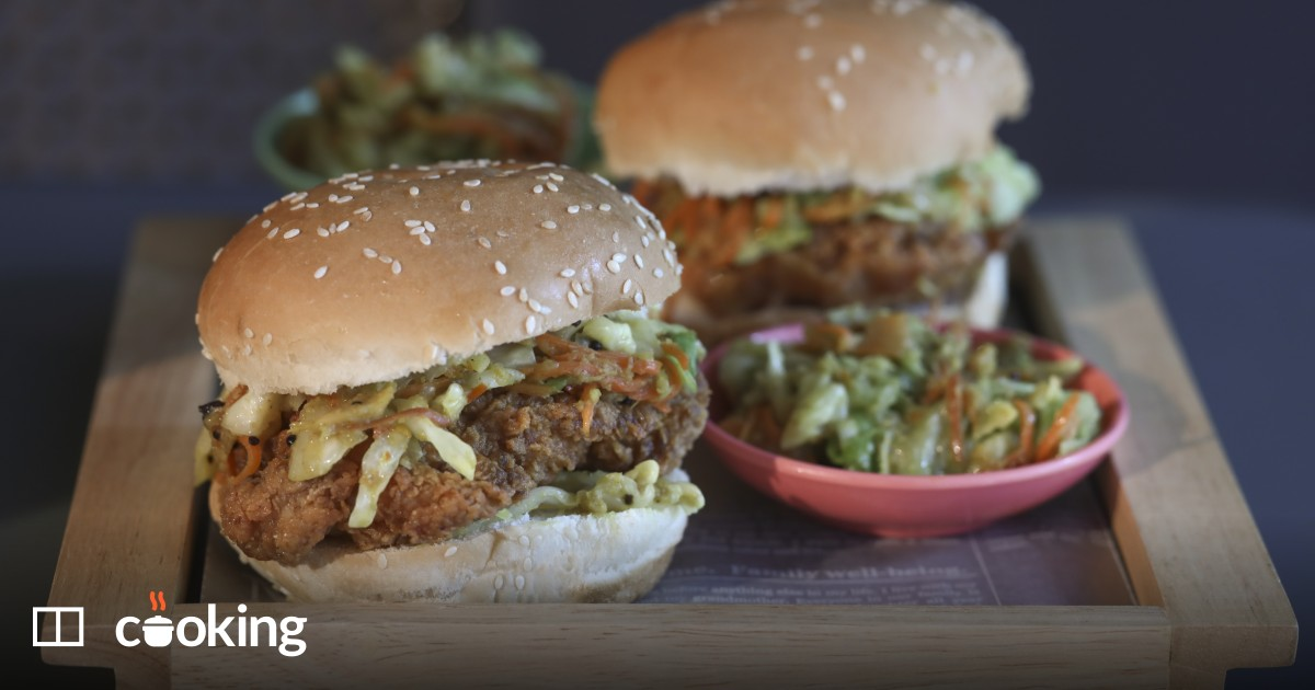 Fried chicken sandwiches with acar slaw recipe