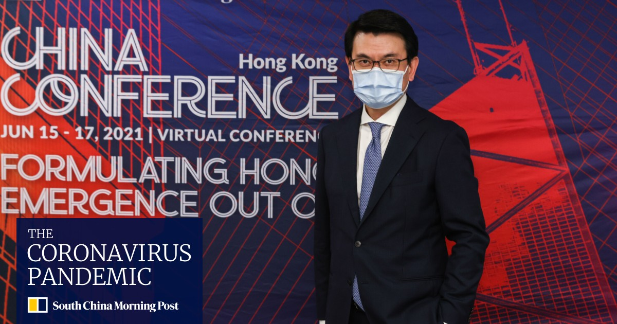 Image Coronavirus: Hong Kong considering relaxing travel restrictions for the fully vaccinated, commerce chief tells China Conference
