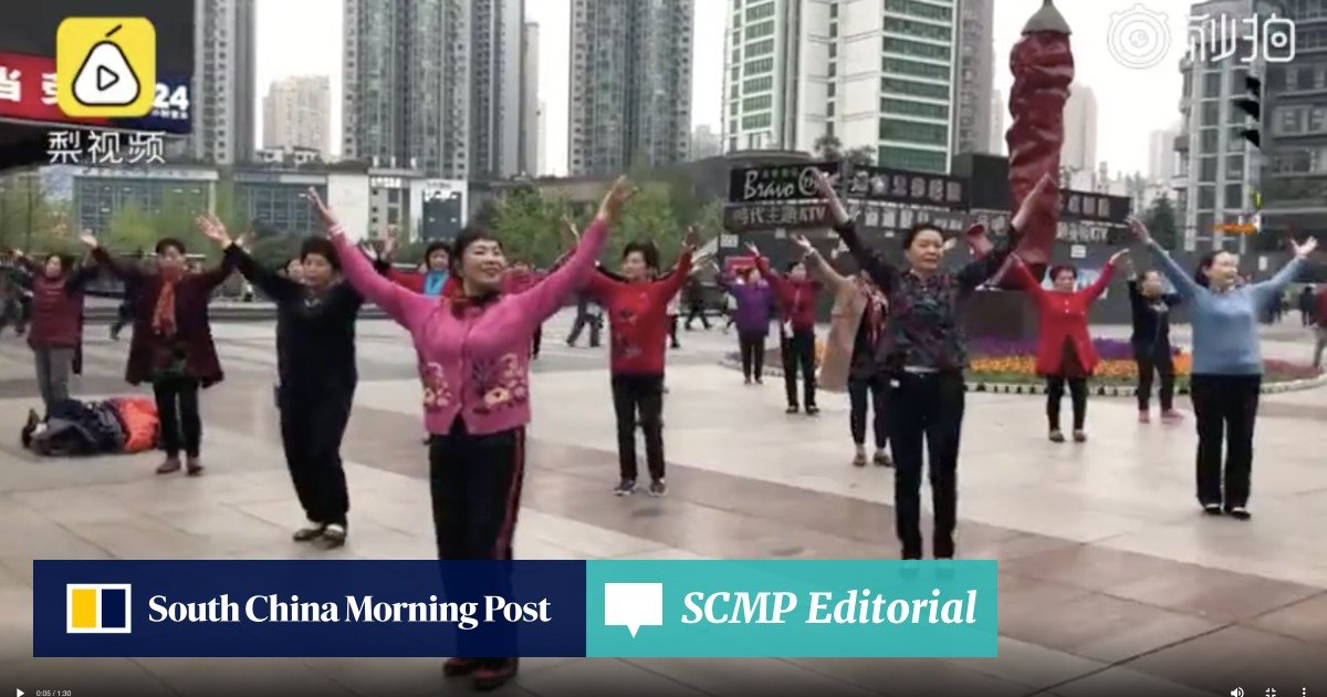 27d7f8ceef76 Sounds of silence: 'dancing aunties' use earphones to reduce the noise and  increase the peace | South China Morning Post