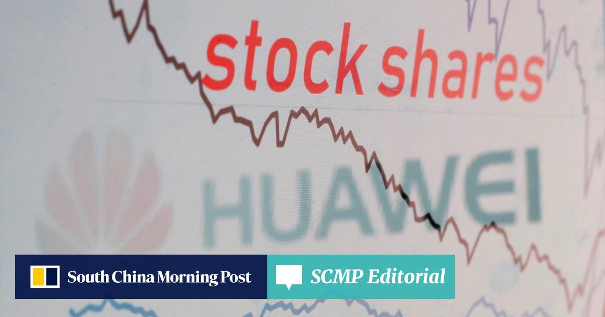 US stocks fall as Huawei ban fallout hits tech shares