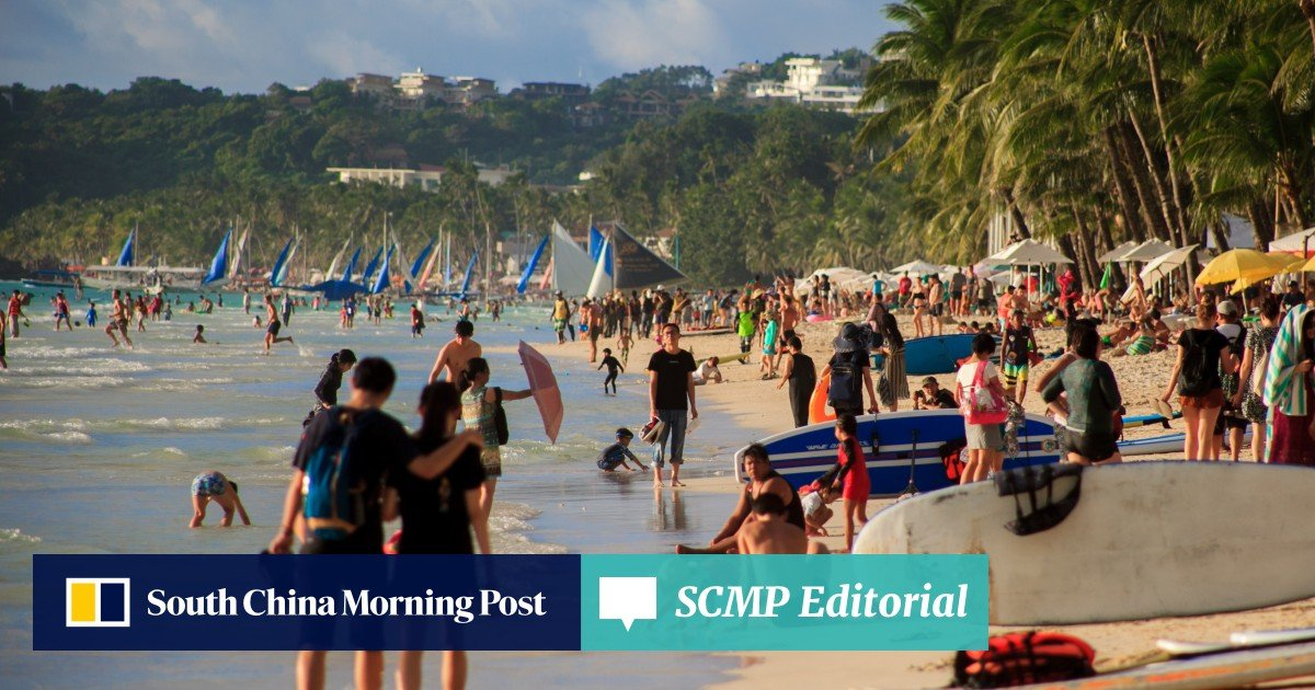 c2b1d4e52786 Chinese tourists breaking rules 'all over the place' in Boracay   South  China Morning Post