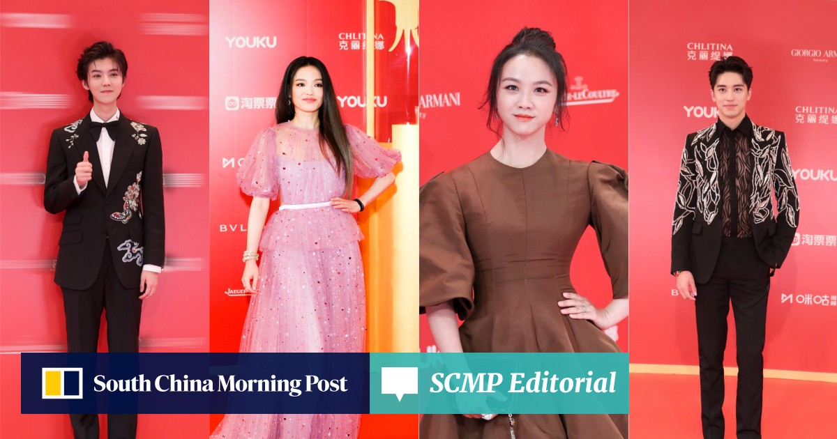What did Chinese stars Lu Han and Tang Wei wear on the red