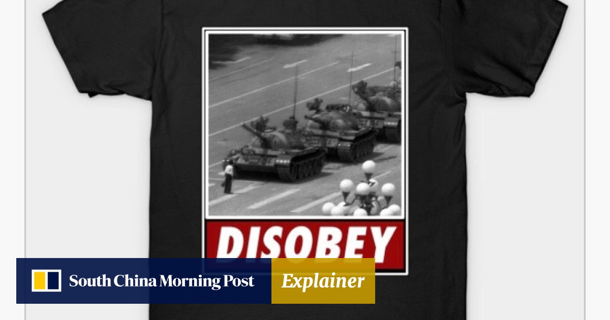 56f7ea7ba8 T-shirt designers inspired by Tiananmen Square Tank Man and other ...