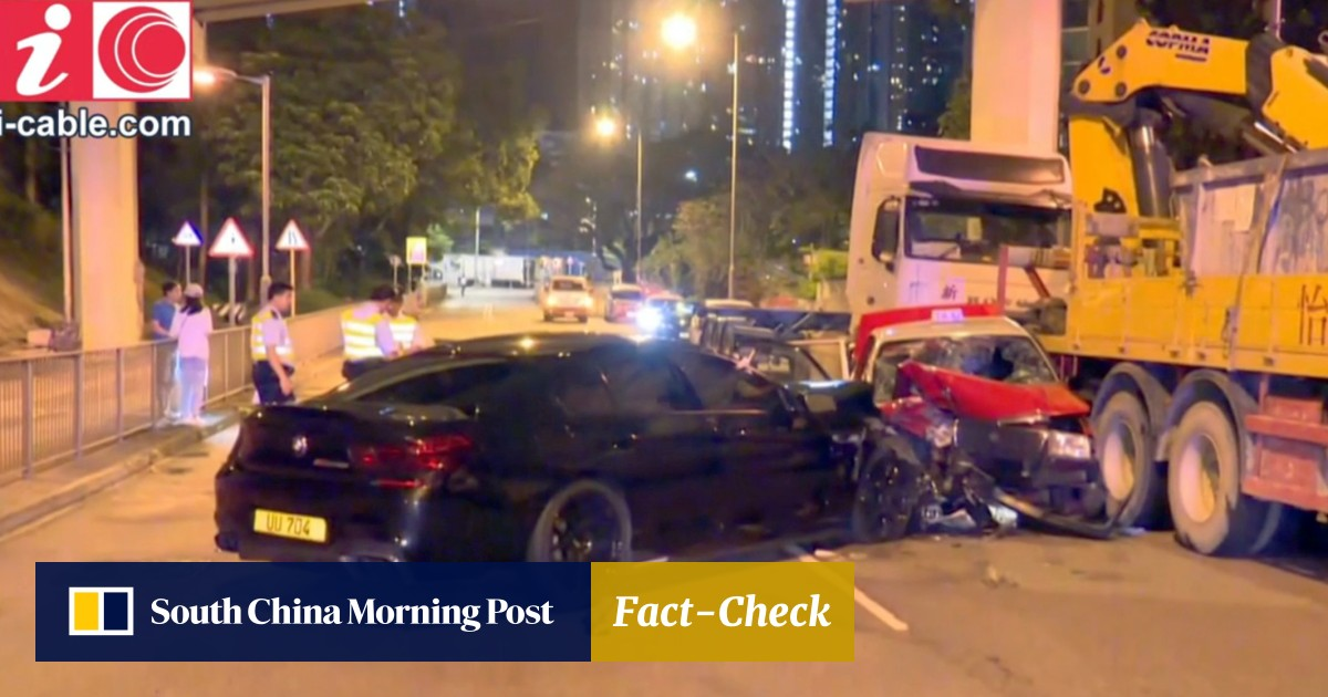 Hong Kong man arrested after collision that killed taxi