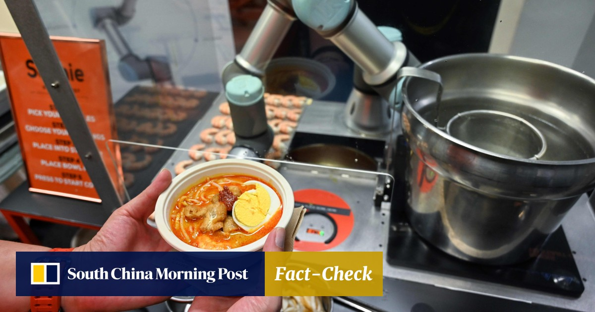 Instant noodles: robot-made laksa in Singapore ready in 45