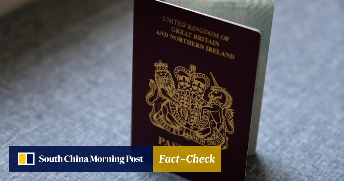 Britain Announces New Class Of Visa For Hong Kong Bn O Passport Holders As First Step In New Track To Earning Citizenship South China Morning Post