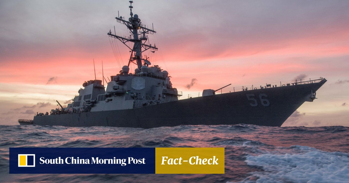 South China Sea Us Destroyer Sails Near Spratly Islands To Assert Navigational Rights South China Morning Post