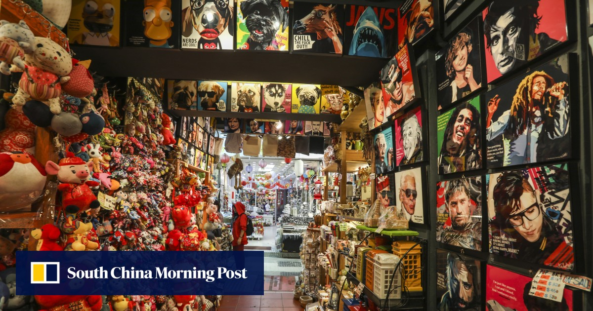 Made in China trinkets gather dust in Stanley Market as visitor numbers fall and tourists in Hong Kong turn their backs on mass-produced souvenirs