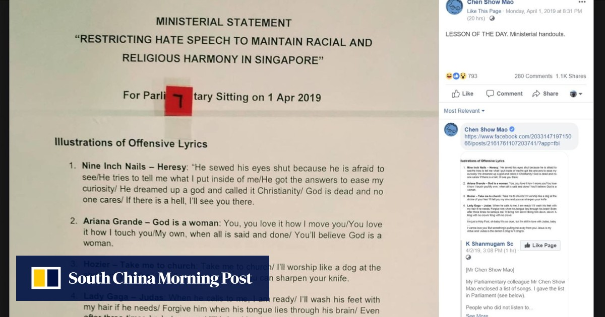 Derision on social media as Singapore's list of 'offensive