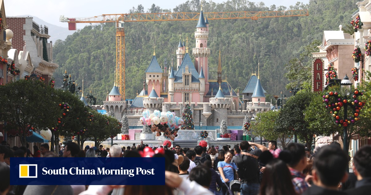 Struggling Hong Kong Disneyland raises one-day entrance fees by 3 per cent, the sixth year in a row for...
