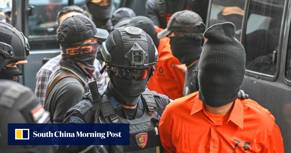 Indonesian police round-up more suspects linked to election terror plots, prompting Western embassies to issue travel alerts