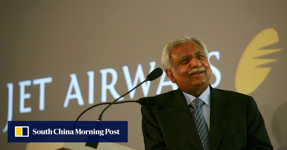 Jet Airways founder Naresh Goyal and wife blocked from overseas travel at Mumbai airport after collapse of airline