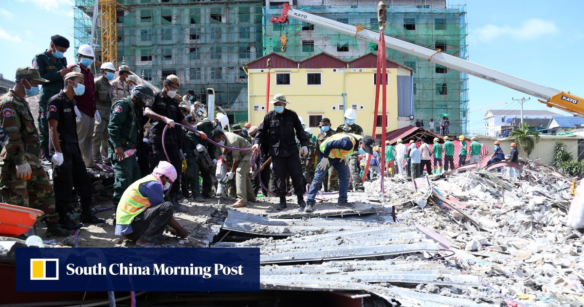 Cambodia building collapse: seven people, including five Chinese nationals, charged over tragedy that killed 28 people in Sihanoukville