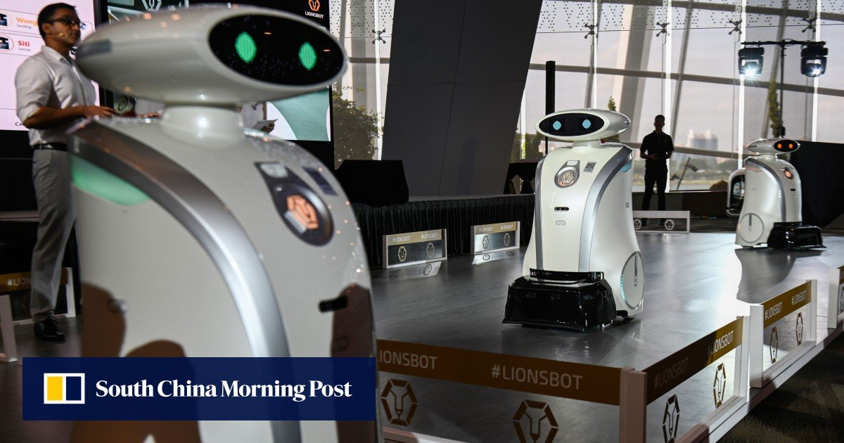 Singapore unveils army of multilingual cleaning robots in bid to spruce up city