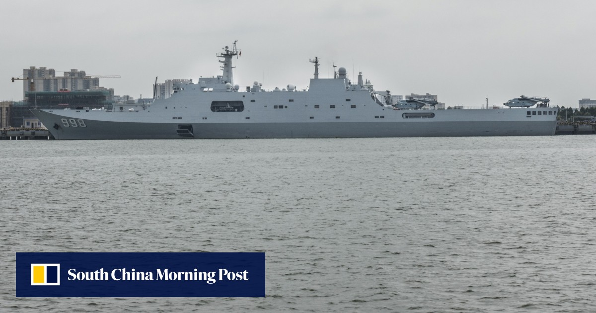 China's Type 075 Helicopter Ship Nears Completion, Amateur