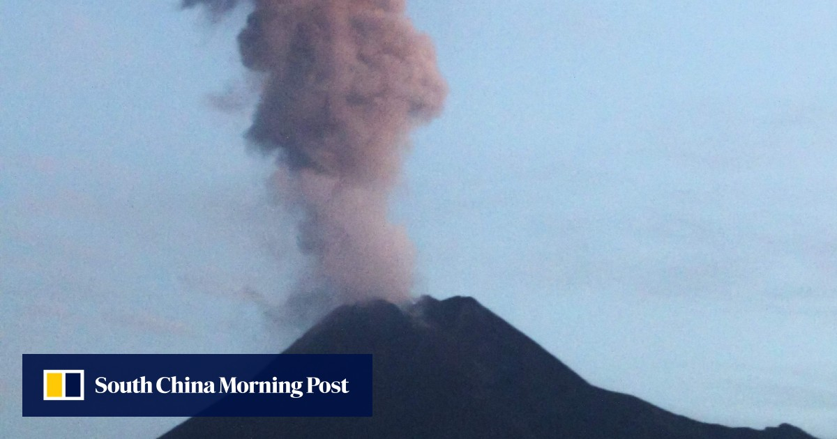 Indonesia's Mount Merapi erupts, spewing ash 2km into sky