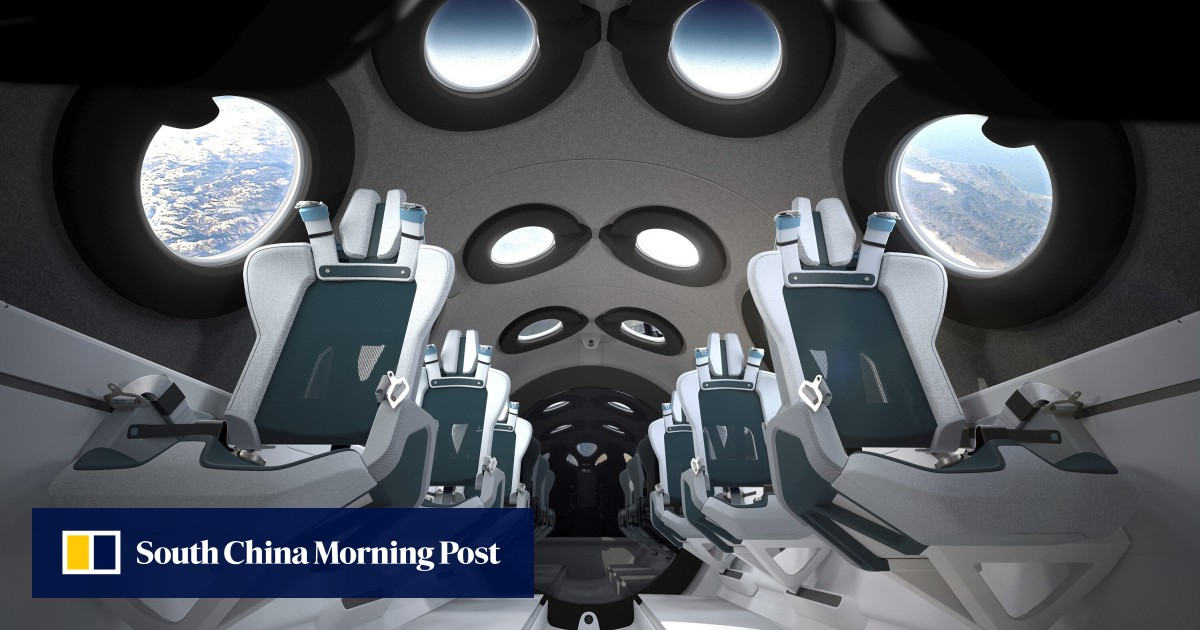 Virgin Galactic shows off spaceship cabin fit for the rich