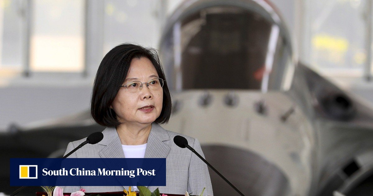 Taiwanese president Tsai visits military base after PLA 'provocations'