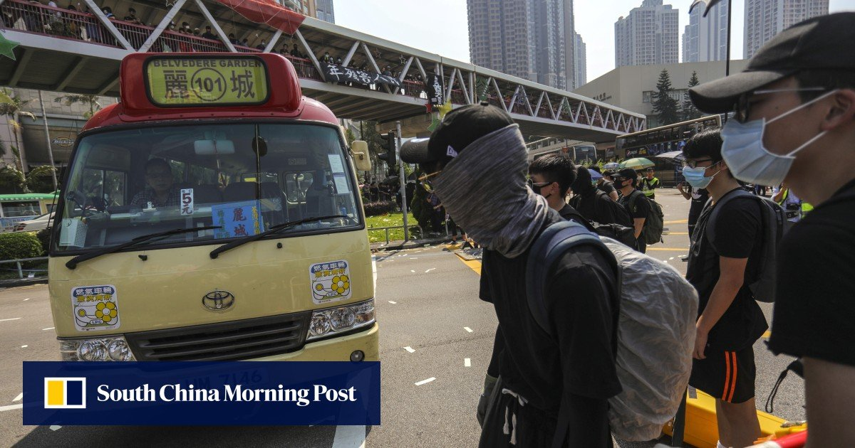 Hong Kong protests: four jailed for up to 56 months over National Day riot