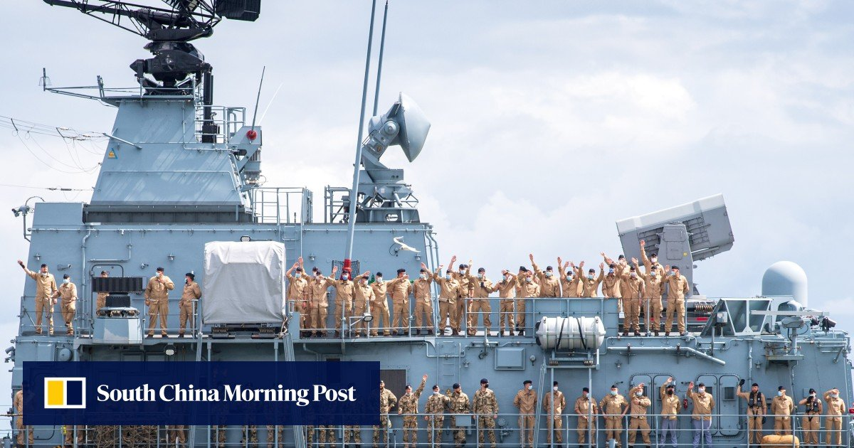 German warship heads for South China Sea as it deploys on six-month Indo-Pacific mission